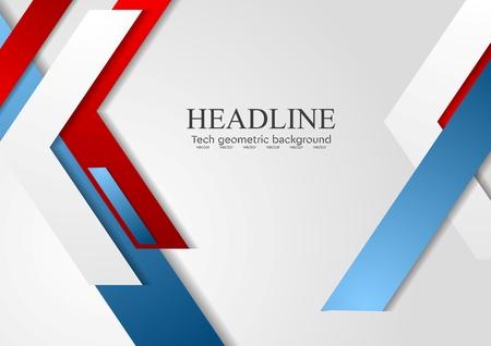 azul: vector brillante diseño de folletos moderna geométrica. fondo del vector