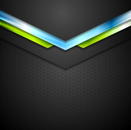 green technology: Abstract technology background with blue green arrows. Vector design