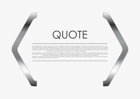 elegant design: Quote blank metal abstract design. Vector background Illustration