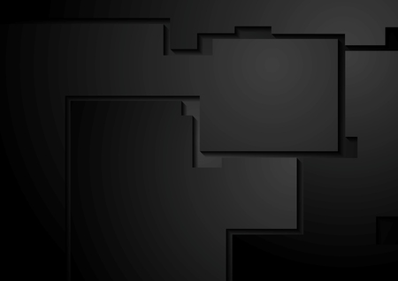 Black corporate geometric background. Vector design