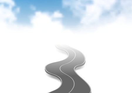 heaven: Road to sky abstract vector background