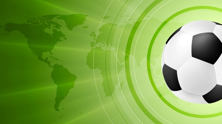 soccer background: Green anstract soccer sport background with ball. Vector design