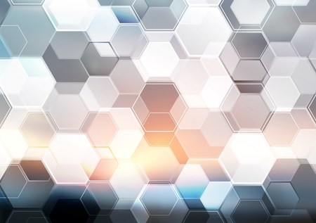 Abstract modern tech hexagon texture design. Vector background Vettoriali