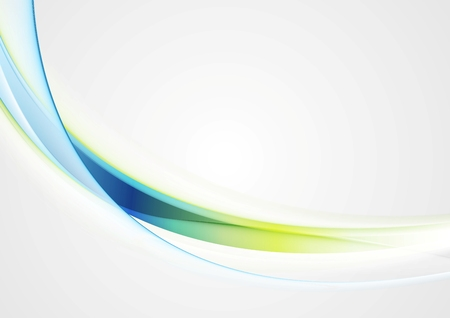 Bright shiny glow waves vector image background Stock Illustratie