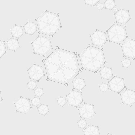 gradient: Molecular seamless structure abstract drawing background. Vector tech design Illustration