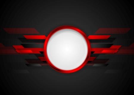 red banner: Dark red technology background. Vector graphic design