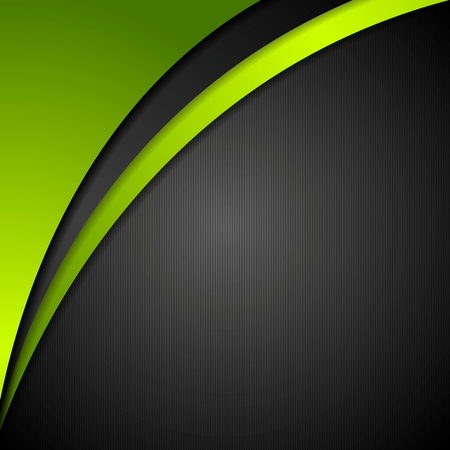 green banner: Abstract corporate wavy background. Vector design