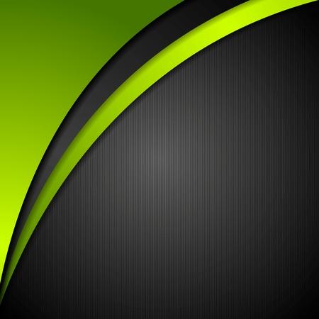 verde: Fondo ondulado corporativa abstracta. Diseño vectorial