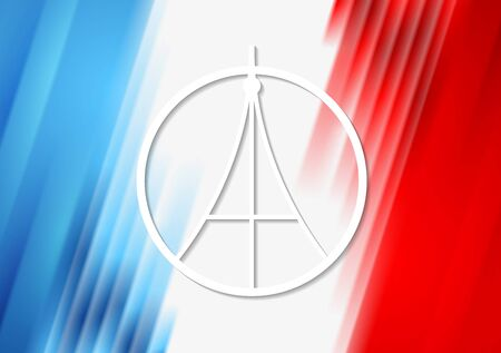pray for: Pray for Paris. French flag colors vector background