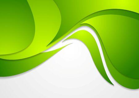 wavy background: Bright green corporate wavy background. Vector design