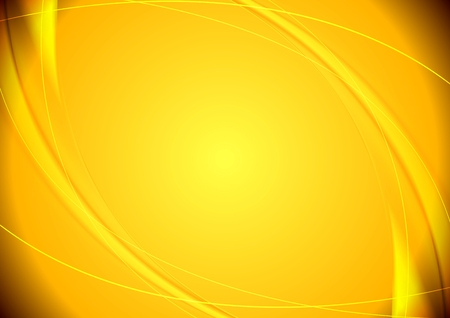 Abstract yellow wavy vector pattern