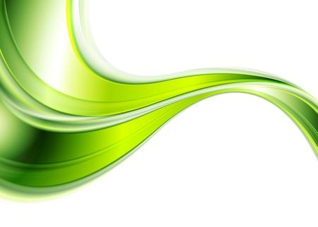 Fondo verde del extracto ondas suaves. diseño del vector Foto de archivo - 48720514