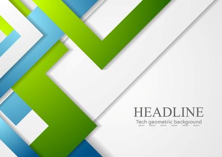 Bright geometric corporate tech background. Vector design Vettoriali