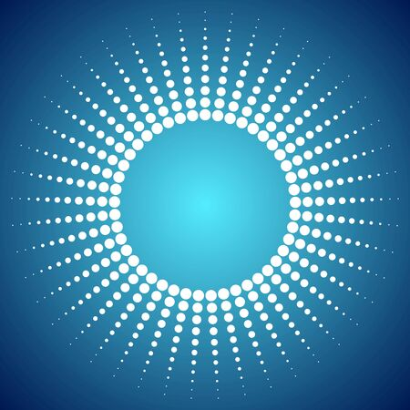 bright sun: Abstract bright dotted sun background. Vector design Illustration