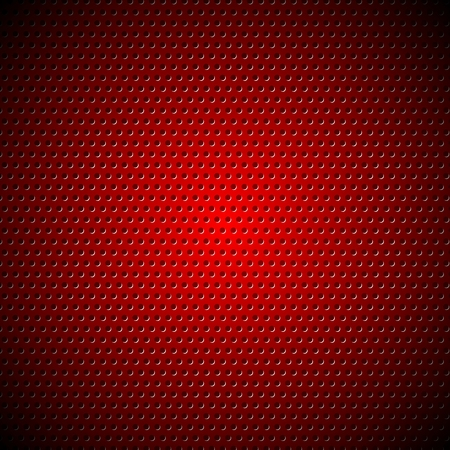 perforated: Dark red metal perforated texture.  Illustration