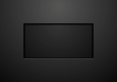 square frame: Tech black concept corporate abstract background.
