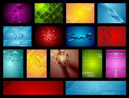 bright: Bright abstract hi-tech backgrounds.  Illustration