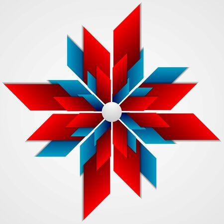 lucero: diseño brillante logotipo de la empresa abstracta. fondo del vector