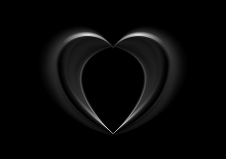 smooth: Smooth silk black heart background. Valentine Day vector design