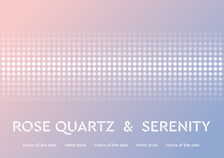 Trendy color of the 2016 year. Rose quartz and serenity shiny vector background Illustration