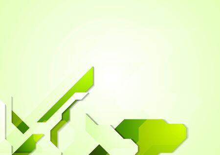web design background: Bright green technology elements background. Geometric illustration for corporate web and print design Illustration