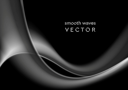 Elegant grey wavy smoke abstract background. Vector graphic design Çizim