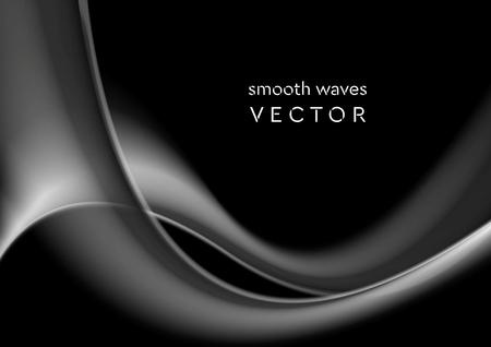 Elegant grey wavy smoke abstract background. Vector graphic design Illustration