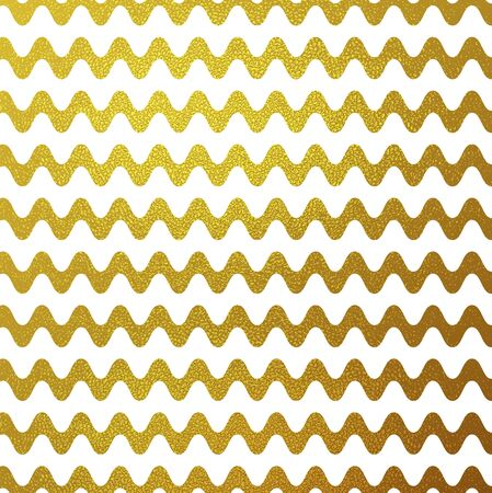 glitter background: Gold glitter wavy stripes colorful background. Bright luxury golden texture vector graphic design