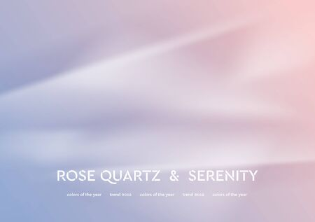 rose quartz: Abstract vector illustration with smooth waves. Trend colors of the year 2016 rose quartz and serenity. Modern curves background
