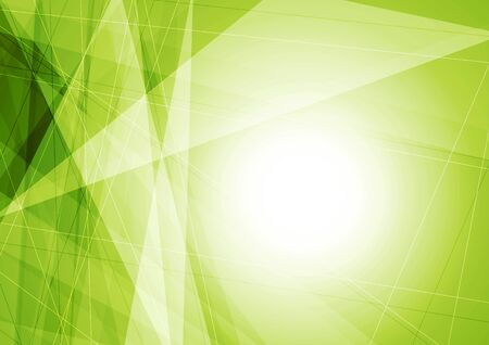 graphic background: Bright green geometric shapes tech background. Vector graphic design Illustration