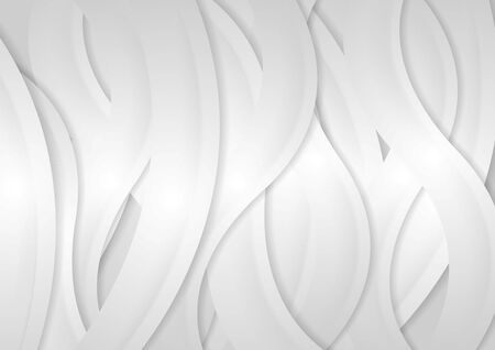 Light grey abstract wavy background. Vector graphic design