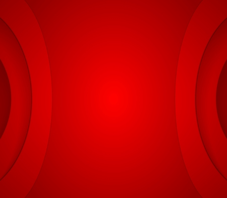 Abstract red wavy corporate background. Vector design Ilustração