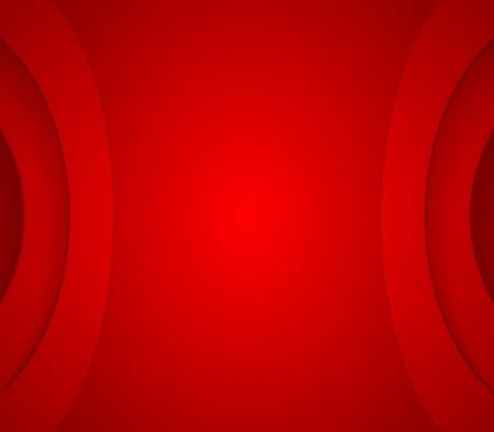 fondo rojo: Fondo Corporativo ondulado rojo abstracto. diseño del vector