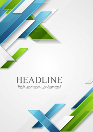 Abstrakte blaue grüne geometrische Tech-Design. Vektor-Grafik-Hintergrund