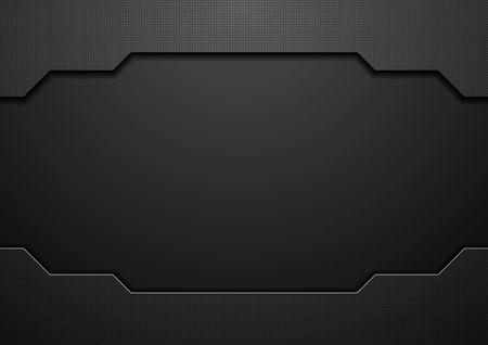Abstract black technology concept design. Vector template background