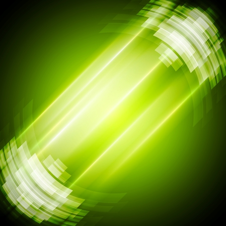 green technology: Abstract bright green technology background. Vector design illustration