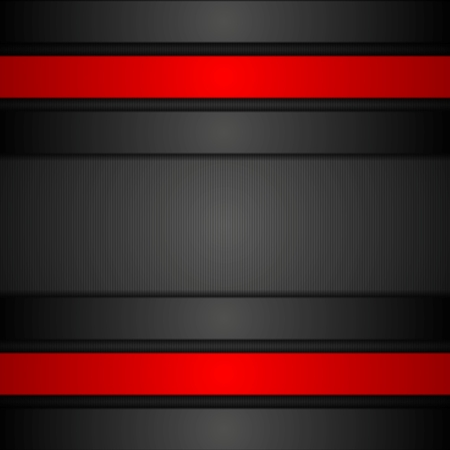 black and red: Black and red corporate tech graphic design. Vector background