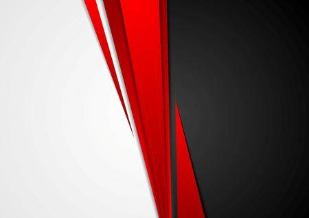 Koncepcja Corporate czerwony czarny szary kontrast tła. Wektor projektowania graficznego