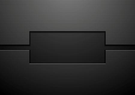 технология: Абстрактный черный технологии корпоративного дизайна. Векторная иллюстрация