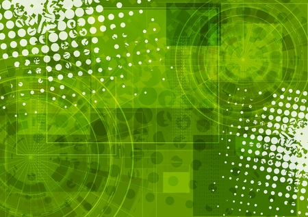 abstract grunge: Bright green grunge tech background. Vector graphic design Illustration