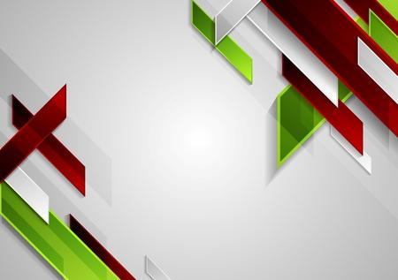 fondo elegante: Formas geométricas de la tecnología brillante en fondo gris. Vector plantilla de diseño de folleto
