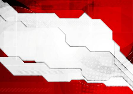 hi tech background: Red grey tech corporate background. Vector graphic design