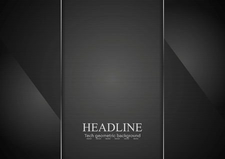 Black glass abstract background. Vector graphic concept design Illustration