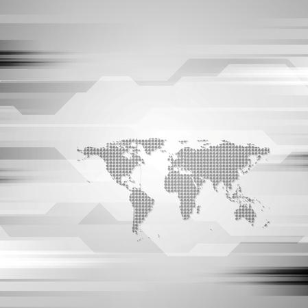 hitech: Geometric abstract grey hi-tech background. Vector illustration
