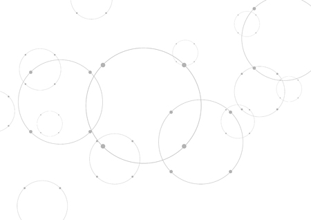 technical background: Abstract grey tech background with circles. Vector illustration Illustration