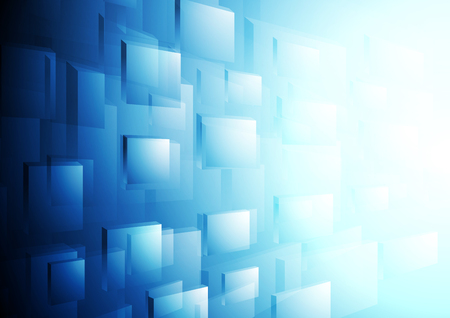 hitech: Bright blue hi-tech motion background. Vector template brochure design
