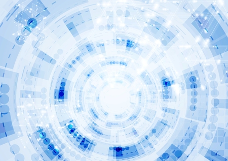 technology background: Tech blue gear drawing abstract background. design