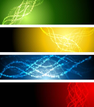 sparkling: Abstract shiny sparkling wavy banners. graphic design Illustration