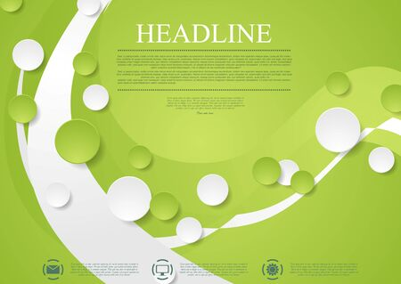 light green: Bright green wavy tech abstract background. Corporate design Illustration