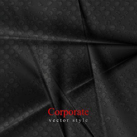 elegant background: Black grunge abstract soft stripes elegant background. design Illustration